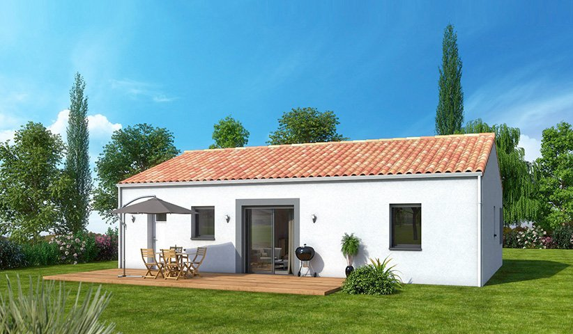 Maison traditionnelle de plain pied 67 m 2 chambres for Constructeur maison traditionnelle