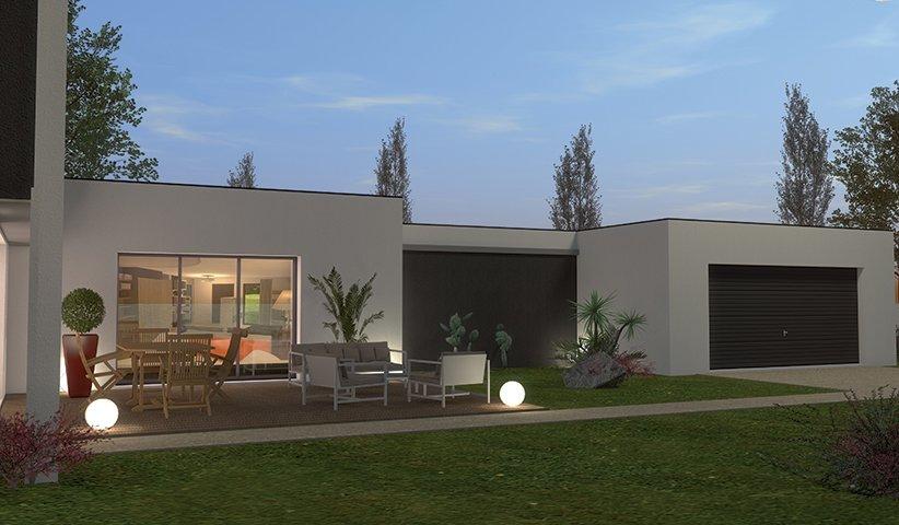 plan maison contemporaine 180m2