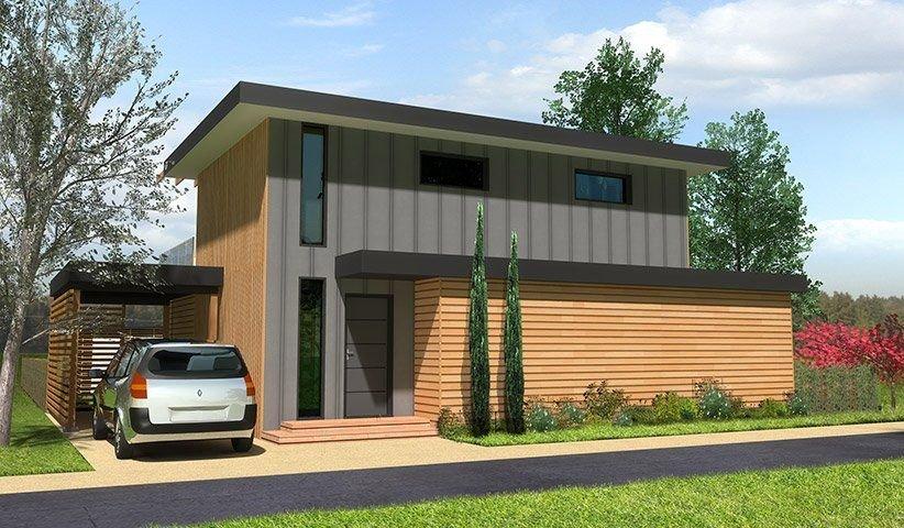 Maison OSSATURE BOIS à étage 110 m² 4 chambres