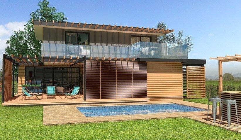 maison ossature bois tage 110 m 4 chambres. Black Bedroom Furniture Sets. Home Design Ideas