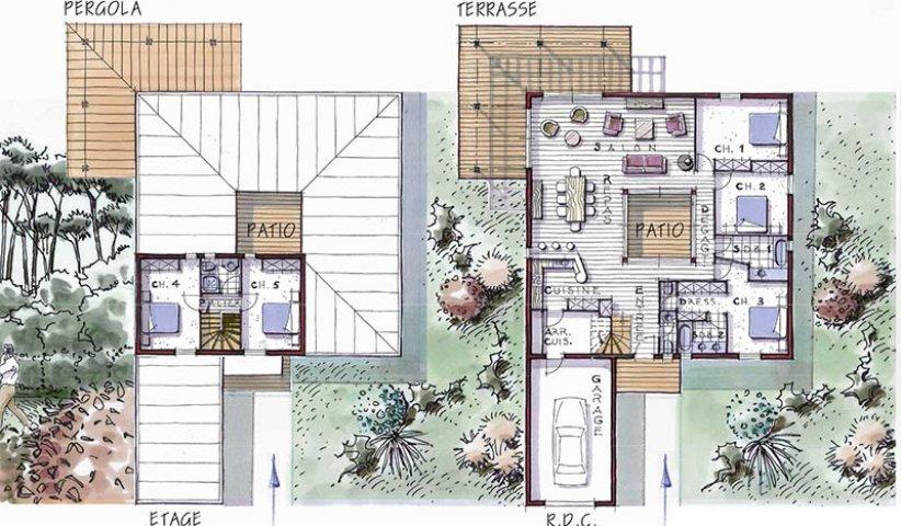 maison bois patio soleo 177
