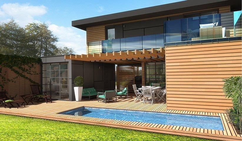 Maison OSSATURE BOIS à étage 80 m² 3 chambres