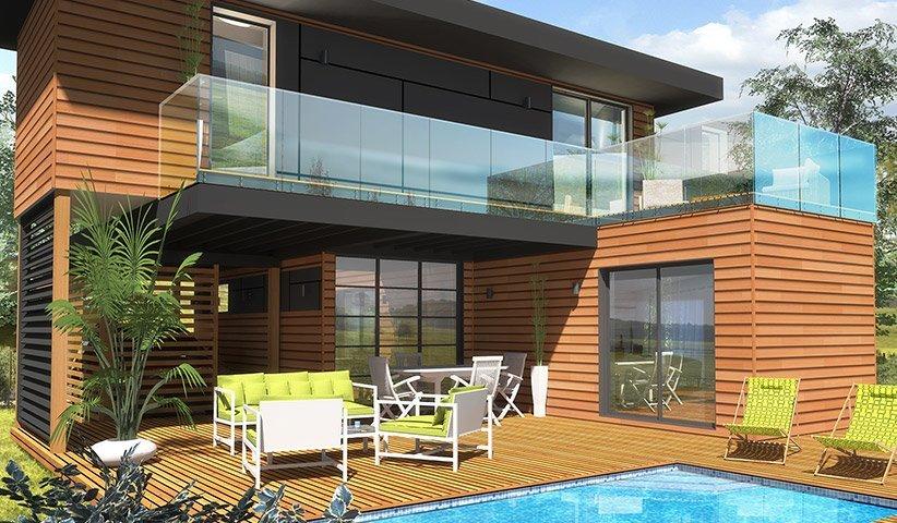 Maison OSSATURE BOIS à étage 65 m² 2 chambres