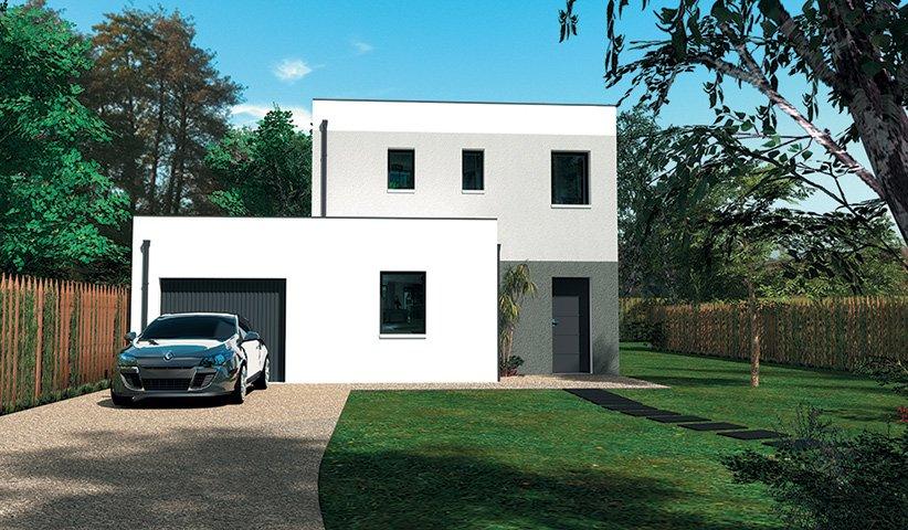 Maison design 98 m 3 chambres for Maison contemporaine 110m2
