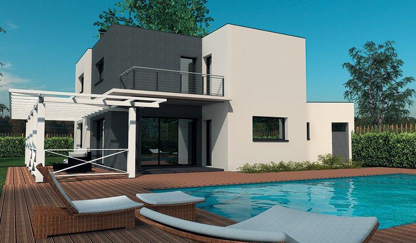 Maison contemporaine tage 160 m 4 chambres - Maison de ville moderne design klein ...