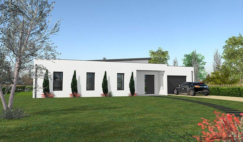 maison contemporaine de plain pied 132 m 4 chambres. Black Bedroom Furniture Sets. Home Design Ideas