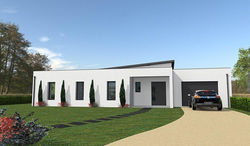 Maison contemporaine de plain pied 132 m 4 chambres for Designer exterieur maison