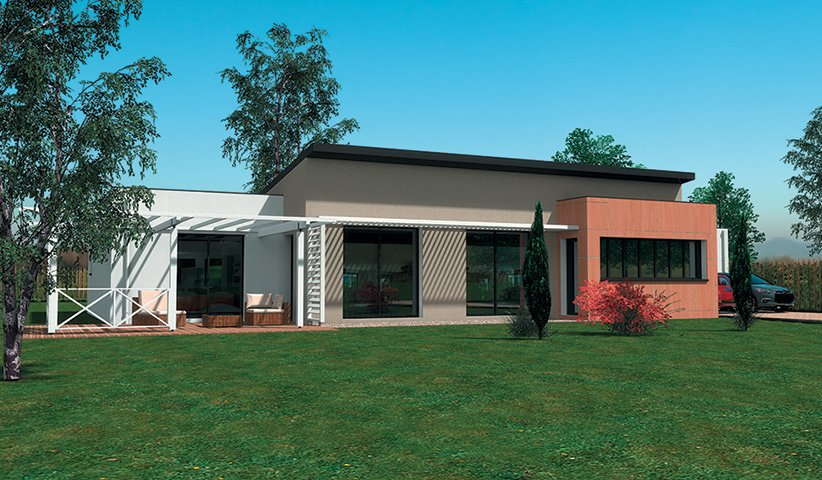 Maison contemporaine 110m2 maison moderne for Plan de maison plain pied 110m2