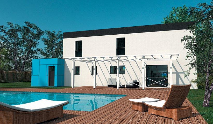 Maison contemporaine tage 181 m 4 chambres for Constructeur maison contemporaine 64