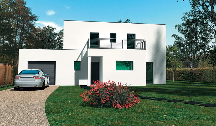 plan maison contemporaine 60m2