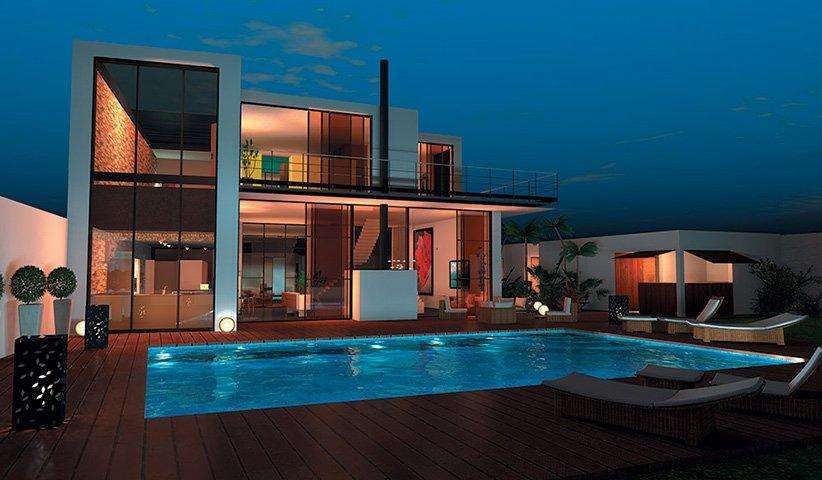 Maison contemporaine tage 300 m 4 chambres for Maison moderne 300m2
