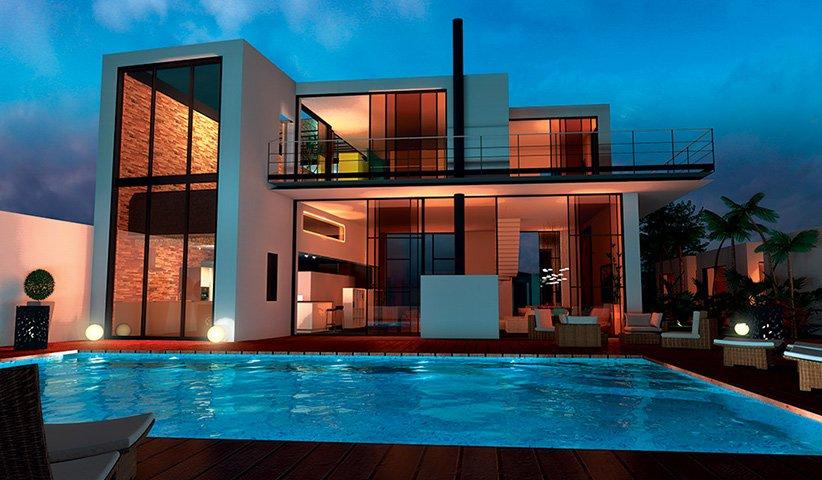Maison contemporaine tage 300 m 4 chambres for Maison de design arkitek