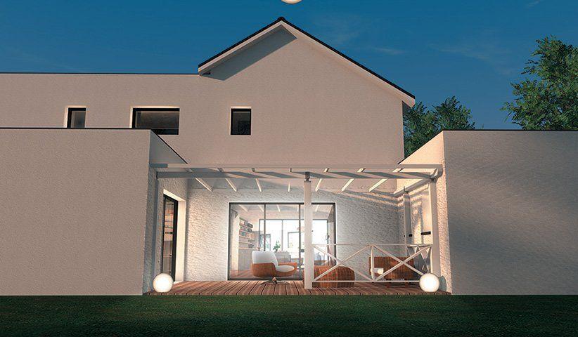 faade maison design maison neuve extensions rnovations. Black Bedroom Furniture Sets. Home Design Ideas