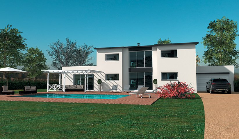 Maison contemporaine tage 194 m 5 chambres for Modele de villa contemporaine