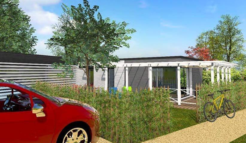 Maison OSSATURE BOIS de plain-pied 50 m², maison bois contemporaine