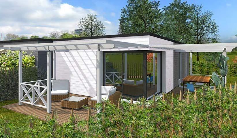 maison ossature bois de plain pied 50 m maison bois. Black Bedroom Furniture Sets. Home Design Ideas