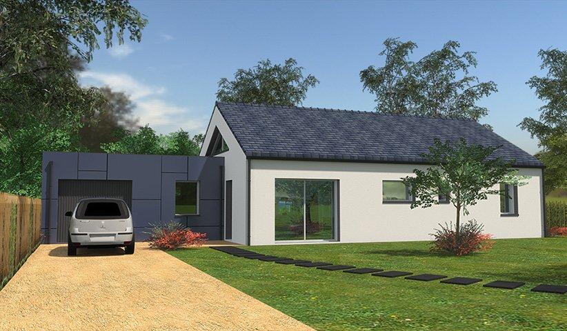 Maison traditionnelle de plain pied 83 m 3 chambres for Constructeur maison traditionnelle
