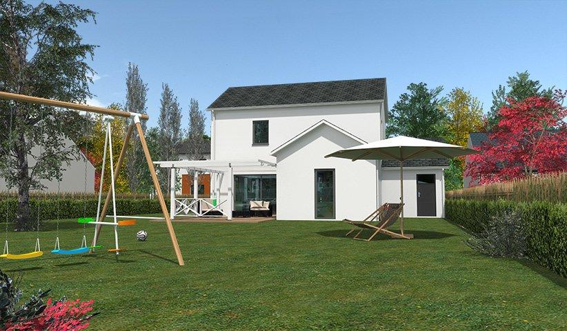 Maison traditionnelle tage 90 m 3 chambres for Constructeur maison 86