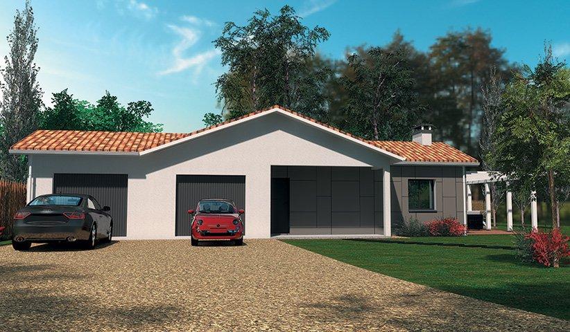 Maison traditionnelle de plain pied 86 m 3 chambres for Constructeur maison traditionnelle