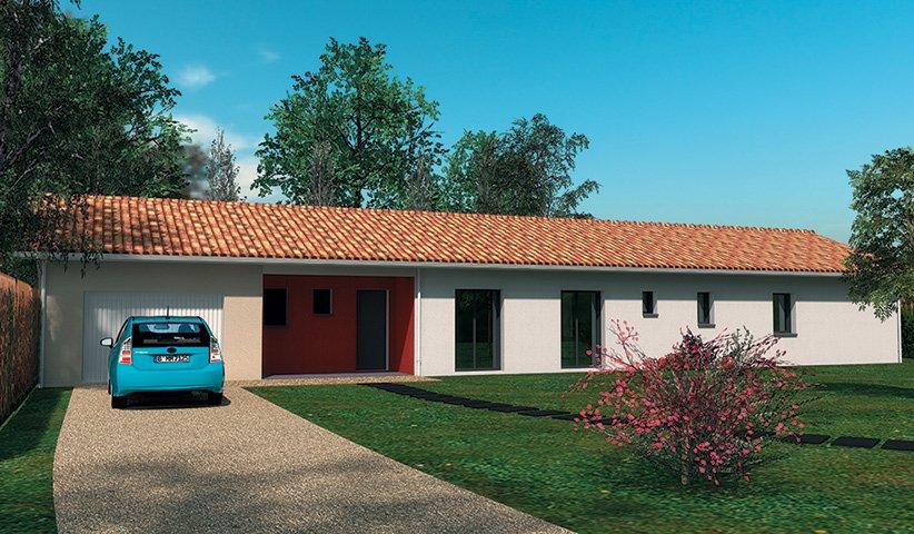 Maison traditionnelle de plain pied 90 m 3 chambres for Constructeur maison 86