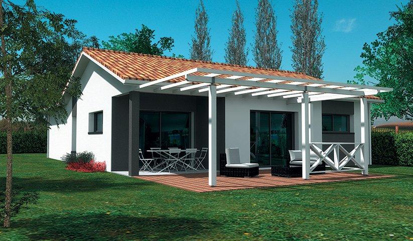 maison traditionnelle de plain pied 84 m 3 chambres. Black Bedroom Furniture Sets. Home Design Ideas
