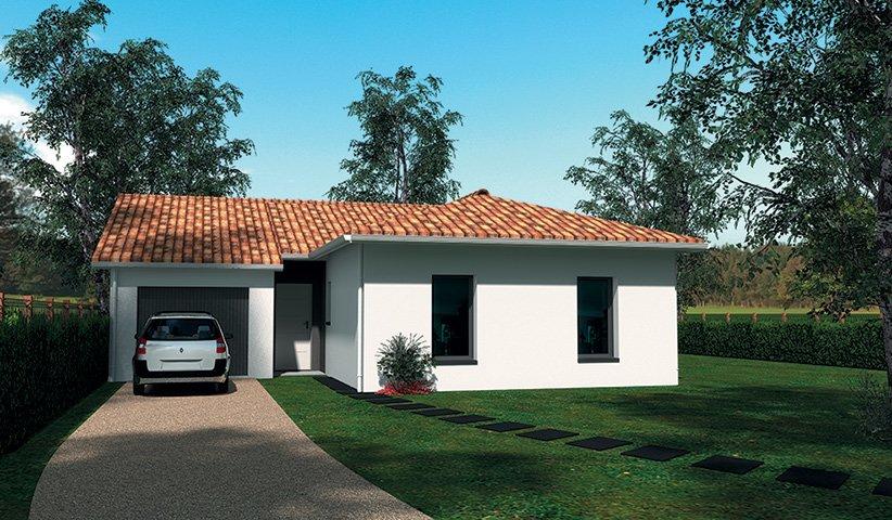 Maison traditionnelle de plain pied 84 m 3 chambres for Constructeur maison traditionnelle