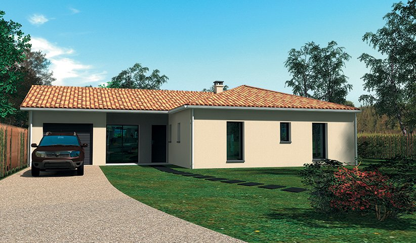 Maison traditionnelle de plain pied 87 m 3 chambres for Constructeur maison traditionnelle