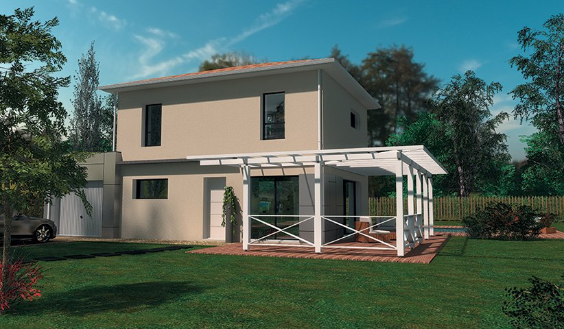 Maison traditionnelle 110 m 3 chambres for Plan maison sud est