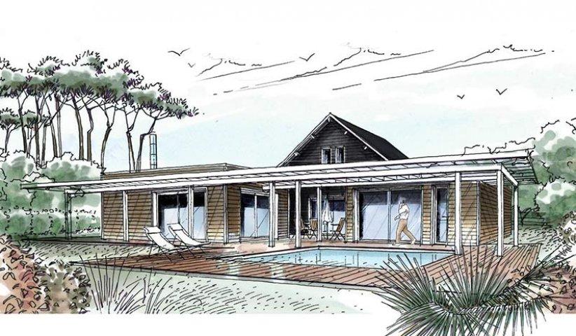 Maison ossature bois 184 m 5 chambres for Id maison bois