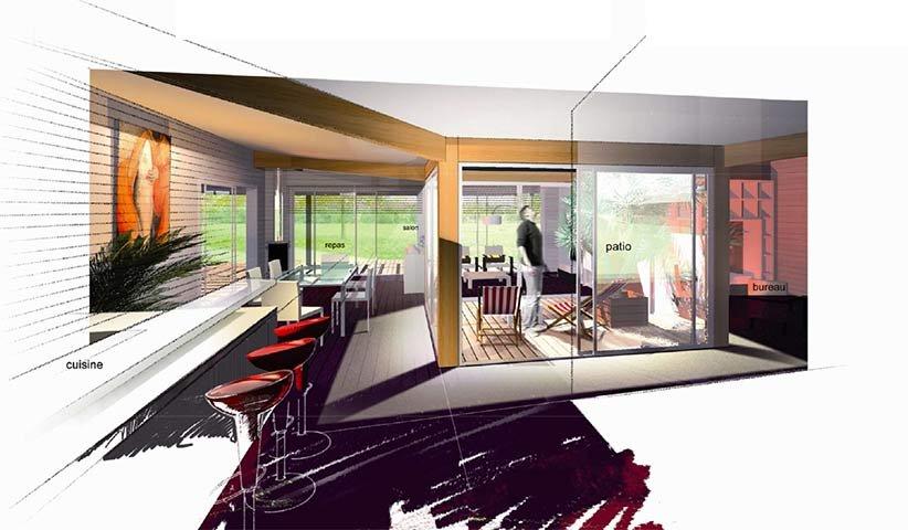 Patio En Bois Design - Modern Patio & Outdoor