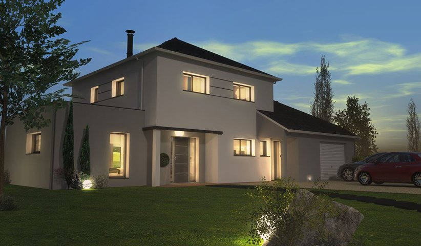 Maison contemporaine tage 178 m 5 chambres for Construction maison 5 chambres