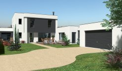 Maison contemporaine tage 160 m 4 chambres for Maison moderne 150 000 euros