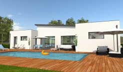 Maison contemporaine loire atlantique 44 nantes saint for Photo maison contemporaine plain pied