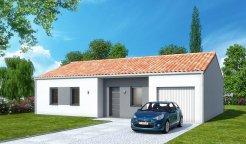 Maison traditionnelle tage 98 m 3 chambres for Prix construction maison plain pied 80m2